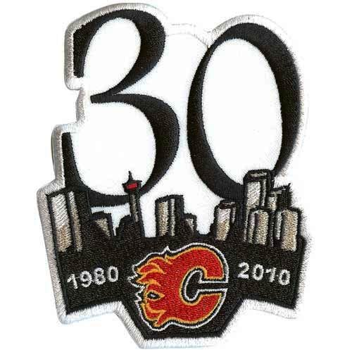 NHL Calgary Flames 30th Anniversary Logo - Logo Anniversary 30th Patch