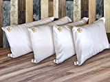 SAVE 25% - Pack: Buy 2 Two Deluxe 100% Royal Alpaca Pillows covered with 100% Peruvian Pima Cotton 800 threads (55 x 95 cm, 4.4 Lbs each) + 3 Pillowcases, Thermo, Soft, Handmade, Eco-friendly, Organic