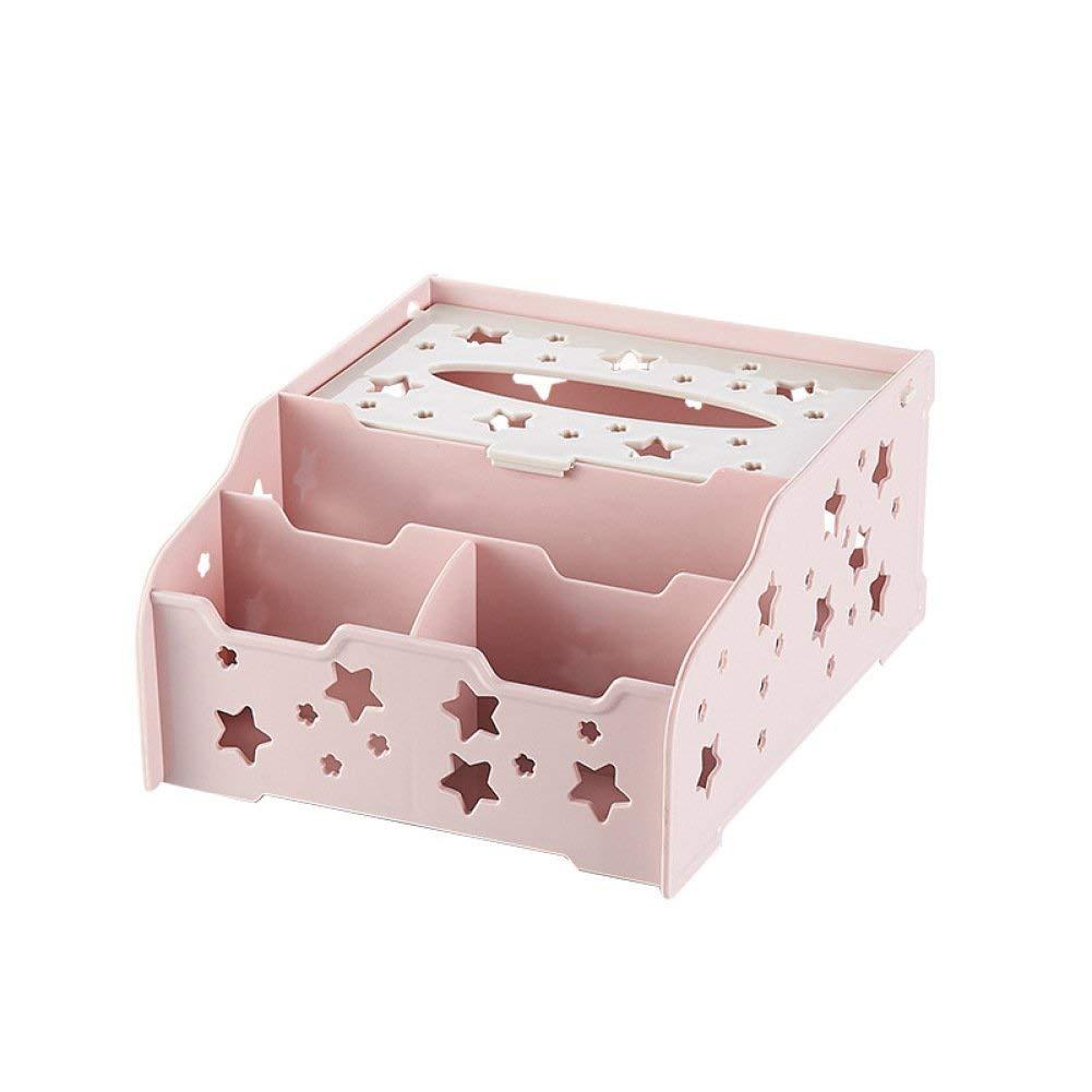 WEILIVE Tissue Tissue Tissue Box Cover Halter Tissue Box kreative Desktop Multifunktions Tissue Box Sterne Hohl Tissue Box Serviette Box Kunststoff zu Hause Wohnzimmer Tissue Box Taschentuchhalter B07PZBT9H4 Toilettenpapieraufbewahrung 1bb039