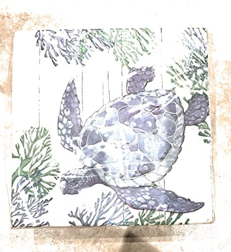 Creative Converting Set of 36 Luncheon Paper Napkins ~ Coral Turtle 1193