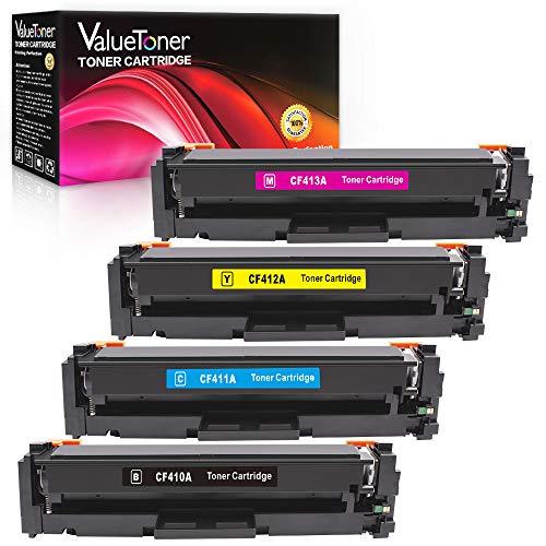(Valuetoner Compatible Toner Cartridges Replacement for HP 410A CF410A CF411A CF412A CF413A Color Laserjet Pro MFP M477fnw M477fdn M477fdw M452dn M452nw M452dw M477 M452 (Black/Cyan/Magenta/Yellow))