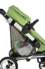 The side sling by J.L. Childress adds needed cargo space to strollers. This multi functional design can be used on either side of the stroller or one on each side. The side sling will fold with most strollers and features a wide elastic openi...