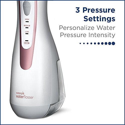 51XC5CIVFoL - Waterpik Cordless Water Flosser Rechargeable Portable Oral Irrigator For Travel And Home - Cordless Advanced, WP-569 Rose Gold