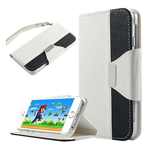 """Etui pour l¡¯Iphone 6 Plus/6 s Plus - TOOGOO(R)Etui flip de portefeuille en cuir synthetique avec pli stand fentes pour cartes de credit pour Apple iPhone 6 plus (5.5"""" pouces) / iPhone plus 6 s (5.5"""""""
