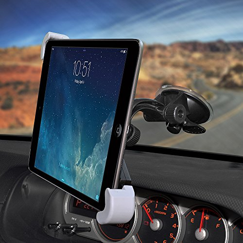 Amzer Universal Suction Cup Car or Truck Mount Holder for 7-11 Inches Tablets, Black -