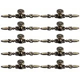 XSHION 10Pcs Knobs Zinc Alloy 120mm European Antique Single Hole Cupboard Cabinet Drawer Wardrobe Door Pull Handle - Bronze