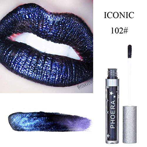 AliveGOT Velvet Shinning Waterproof Long Lasting Matte To Giltter Liquid Lipstick Make Up Lip Gloss