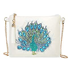 Women Cross-Body Peacock Diamond Painting Bag