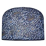 Blue Moon Royal Blue Mums Tea Cozy Double Insulated Tea Cosy Keeps Tea Warm for Hours - Ships the Same Business Day, Order by 1 PM Pacific Time