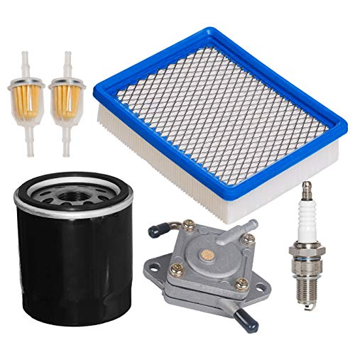 HIFROM Air Filter 1015426 with Fuel Pump 1014523 Oil Filter 1016467 Spark Plug Fuel Filter Kit for Club Car 4-Cycle DS Gas Golf Cart Models 1992-Up 290FE 350FE Engine -  HI3348