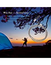 Honeytecs Wire Saw Hiking Survival Saw Outdoor Survival Tool Kit Survival Gear