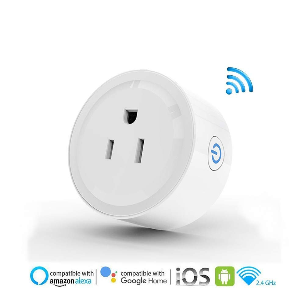 Smart Plugs that Work with Alexa Google Home, Mini Smart Socket Adapter, App Remote Control from Anywhere, No Hub Required Timing Switch, Overload Protection Outlet 【Upgrade】