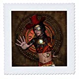 3dRose Heike Köhnen Design Steampunk - Beautiful mystical steampunk women - 22x22 inch quilt square (qs_266384_9)