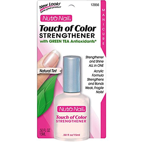 Nutra Nail Manicure Collection Strengthener, Plus Green Tea Antioxidants, Touch of Color, Natural Tint 12856