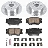 Power Stop K6520 Rear Z23 Evolution Brake Kit with Drilled/Slotted Rotors and Ceramic Brake Pads