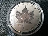 2016 CA maple leaf coin 1 Oz Silver V TANK Privy with CAPSULE Limited 50000 Mintage Only! $5 Mint State