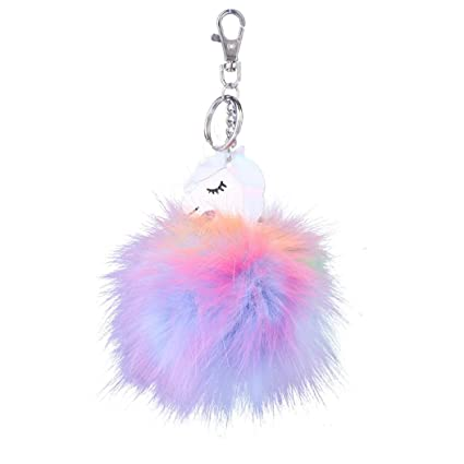 Sonmer Fashion - Llavero de unicornio de felpa con colgante ...