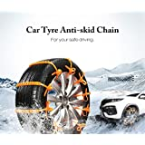 Anti Snow Chains of Car,AUTOLOVER 10pcs Universal Winter Car Tyre Anti-skid Snow Chains for car SUV Truck,Car Security Chains with Snow Shovel and Gloves