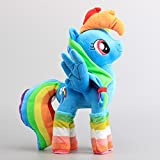 Rainbow Dash with Socks Pony Soft Plush Figure Toy Anime Stuffed Animal 15 Inch Child Gift Doll