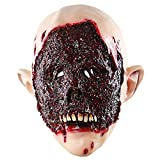 Man's Scary Halloween Zombie Masks Costume Party Props Horror Rotten Bloody Monster Latex Head Mask