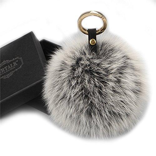 FURTALK Genuine Pompoms Mobile Keychain