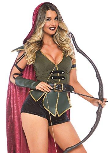 (Leg Avenue Womens Ravishing Robin Hood Costume, Multi)