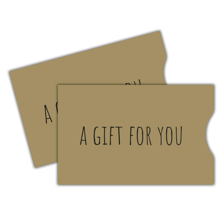 Gray Simple Enjoy Gift Card Sleeve 100 pack