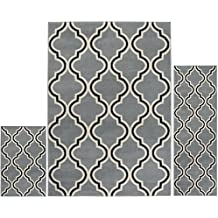 "Home Dynamix 5534-453 3S-5534-453 Area Rugs, 4'11"" x 6'11"", 1'8"" x 4'11"", 1'8"" x 2'8"", Blue/White"