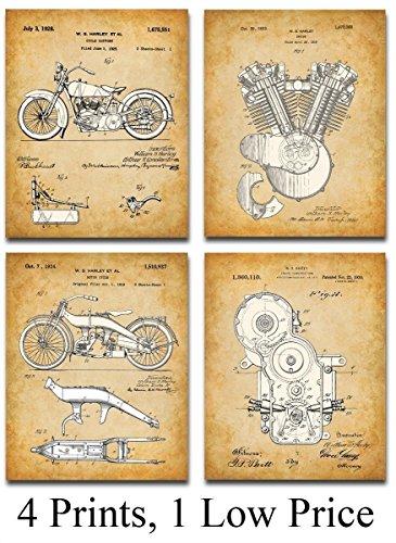 Original Harley Davidson Patent Art product image
