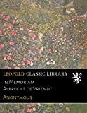 img - for In Memoriam Albrecht de Vriendt (French Edition) book / textbook / text book