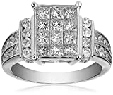 IGI Certified 14k White Gold Engagement Ring with Princess-Cut Diamonds (2cttw, H-I Color, I1-I2 Clarity)