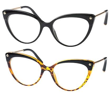 4a319c2674 Amazon.com  SOOLALA Ladies Oversized Cat Eye Reading Glass Modern ...