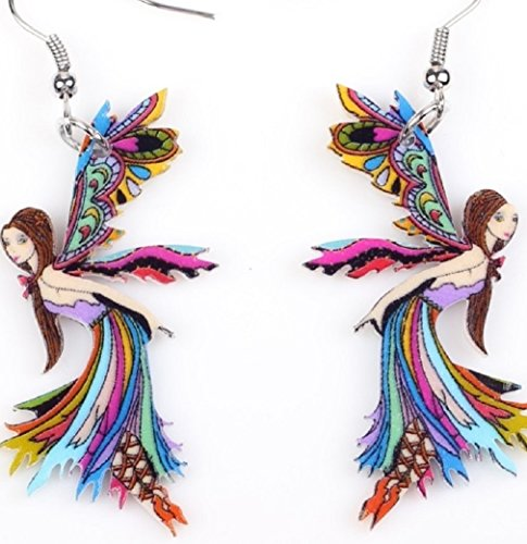 unbrand Cute Fairy Acrylic Drop Earrings-1 Pair Multicolor from unbrand