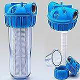 VORFILTER WASSERFILTER 1'' - 5000 L/h PUMPENFILTER FILTER PUMPEN HAUSWASSERWERK / PLUS WANDHALTERUNG UND FILTERSCHLÜßEL