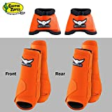 MED ORANGE RELENTLESS TREVOR BRAZILE FRONT REAR SPORT BELL BOOT 6 PACK HORSE