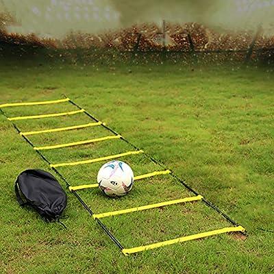 Escalera ágil / Obstáculo ágil Escalera suave Escalera de cuerda escalera de velocidad escalera de entrenamiento de ritmo equipo de entrenamiento de fútbol Uso dual Elevar Ajustar escalera de agilidad: Amazon.es: Deportes