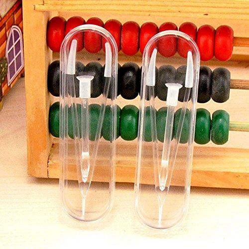 Hooleep 5 Pcs Clear Portable Travel Contact Lens Box Holder Case Contact Lens Tweezer Stick Tool Set