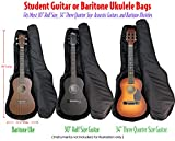 Performance Plus GB060 Heavy Duty 600 Denier Nylon 1/2 to 3/4 Size Acoustic Guitar Bag