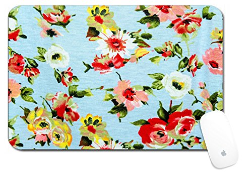 Chintz Flowers (Luxlady Large Mouse Pad XL Extended Non-Slip Rubber Extra Large Desk Mat 18x12 Inch IMAGE ID: 29709943 Modern stylish texture The flower cotton chintz)
