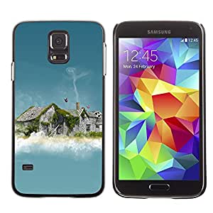 LECELL -- Funda protectora / Cubierta / Piel For Samsung Galaxy S5 SM-G900 -- Abstract House Smoke --
