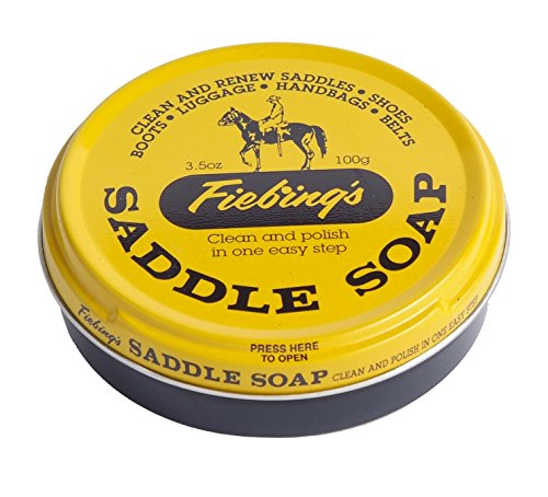 Fiebing's Saddle Soap, Yellow, 3.5 Oz. - Cleans, Softens and Preserves Leather -