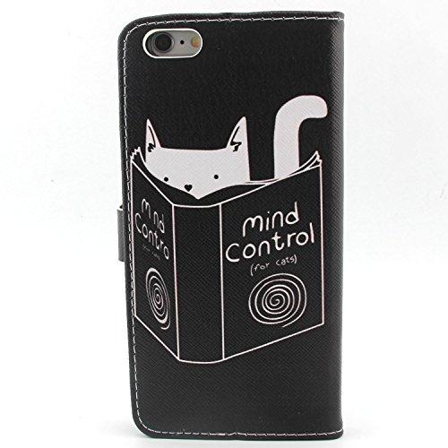"""UBMSA Iphone 6Plus (5,5 """")-portefeuille à rabat avec support et porte-carte de crédit rabat en cuir avec fermeture magnétique, fonction nouvellement de préhension Soft Coque de protection en TPU avec"""