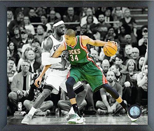 Giannis Antetokounmpo Milwaukee Bucks Nbaスポットライトアクション写真(サイズ: 17 cm x 21 cm )フレーム   B017HPOED4