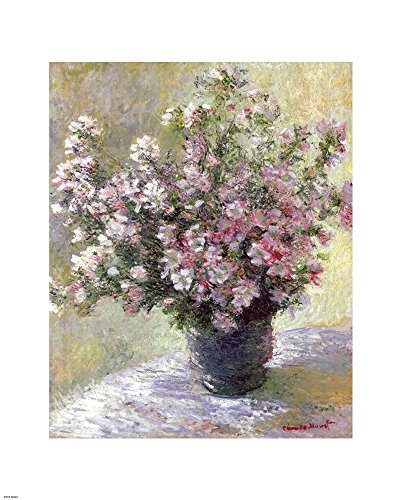 - Vase of Flowers by Claude Monet Art Print, 14 x 18 inches