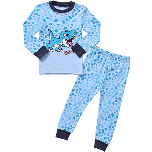 - Dinosaur Pajamas Little Boys Long Sleeve Set 100% Cotton Pjs for Kid 6 Years