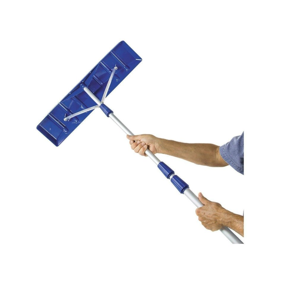 Snow Joe 21' Twist-n-Lock Telescoping Snow Shovel Roof Rake w/ 6'' x 25'' Poly Blade - RJ204M. by Snow Joe