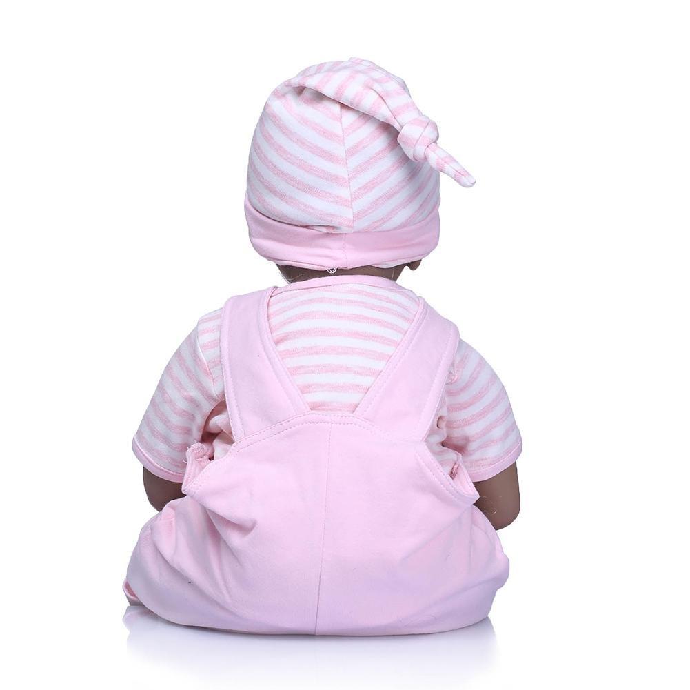chinatera NPK Cute 22inch Soft Silicone Reborn Baby Doll Imitation Newborn Girl Toys by chinatera (Image #3)