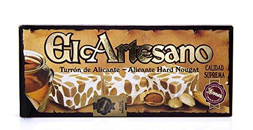 El Artesano ( Pack of 2 ) Crunchy Almond Alicante Turron (Turron de Alicante Duro) 7 Oz (200 G)