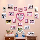 Hyun times Creative living room wedding photo wall love heart modern children bedroom photo wall frame wall combination
