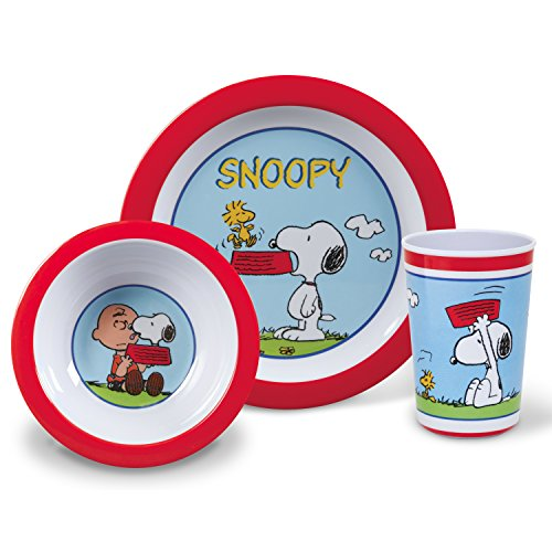 Gibson Home 105941.03 Classic Snoopy 3 Piece Kids Set, Multicolor